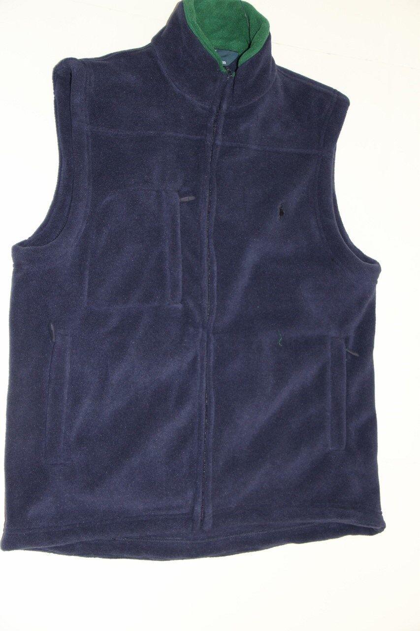 New Polo Ralph Lauren Small Pony Navy Blau Soft Fleece Vest S Small