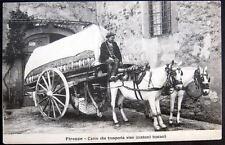 ITALY~1900's FIRENZE~ CARRO CHE TRASPORTA VINO~HORSE DRAWN WINE WAGON ~ TUSCANI