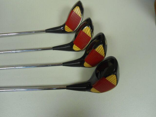 Vintage Ping Eye 2 Woods Set 1,3,5,7 Laminated Maple Left Hand LH Mens Golf Club