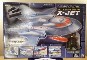 X-men United Électronique X-jet 2003 Toy Biz Marvel Nouvelle forme immaculée scellée