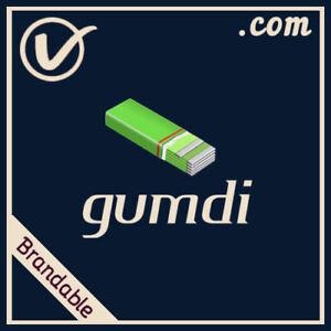 Gumdi-com-CATCHY-Pronounceable-Brandable-LLLLL-COM-Domain-Name-5-Letter-5L