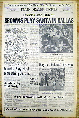 1968 newspaper DALLAS COWBOYS WIN /& Go to NFL CHAMPIONSHIP vs GREEN BAY PACKERS