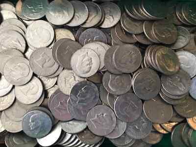 Lot 100 1972-1978 Eisenhower Dollars Ike 1976 Included Bulk Collection 5 Rolls