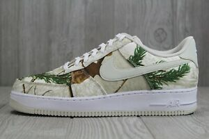 NIKE AIR FORCE 1 Low x RealTree White Camo Light Bone AO2441