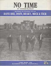 No Time - Dave Dee, Dozy, Beaky, Mick & Titch - 1964 Sheet Music