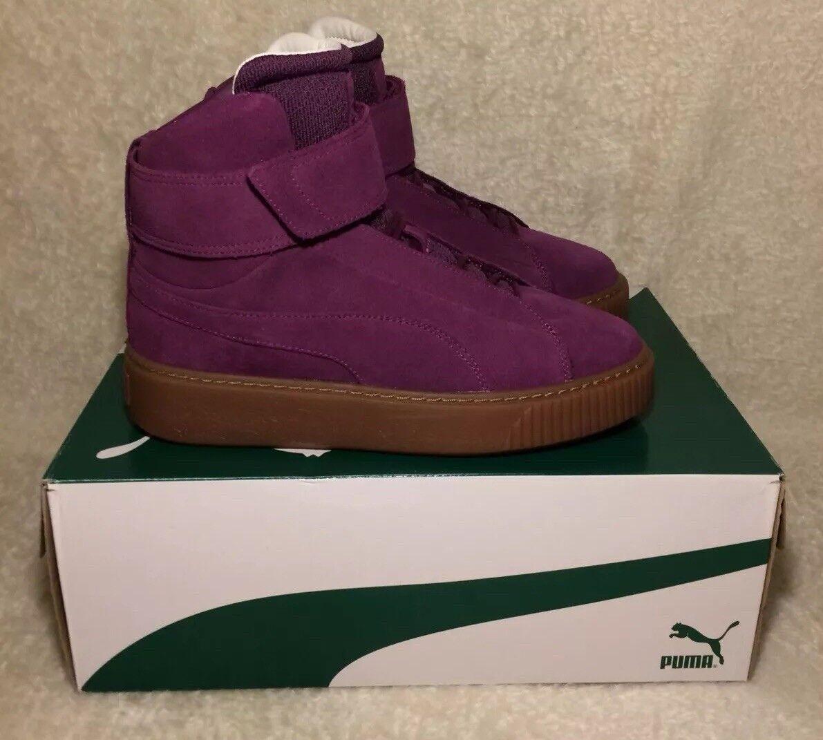 puma platform mid OW 364588 02 Women's Trainers Dark Purple Size 5uk Boots Rare