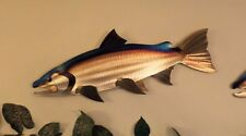 Metal Salmon/Chinook/Coho,Fish,Fishing,Cabin.Lodge,Art,Wall,Home decor,Wildlife
