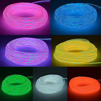 Neon LED Light Glow EL Wire String Strip Rope glow