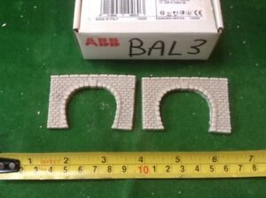2 X Single Track  Z Scale Tunnel Portals, Painted ( Pale Grey)