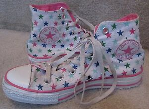 Converse-CT-All-Stars-High-Top-Sneakers-Men-5-Women-7-Style-104530F-White-Stars