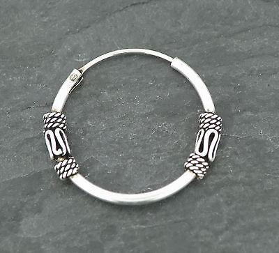 Ohrring Keltische Creole 20mm Gothic Silber 925 Ohrschmuck 100% Garantie