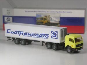 Wiking-C-amp-I-Sondermodell-Mercedes-Kuehlsattelzug-Sovtransavto-Soviet-Union-Russia