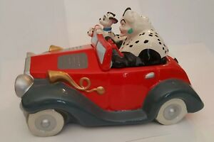 Disney 101 Dalmations Cruella De Vil In Car Ceramic Cookie Jar