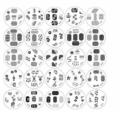 Red Angel 25pc Nail Art Polish Stamping Image Manicure Plates Design - Series #3