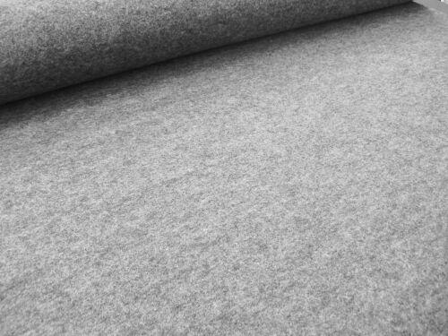 Filz 1,5mm graumeliert Schurwollfilz mittelgrau meliert Meterware grau 1,5mm