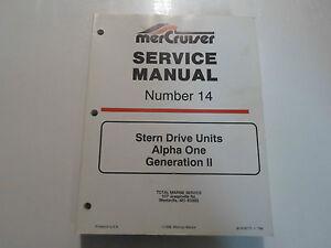 alpha one sterndrive service manual
