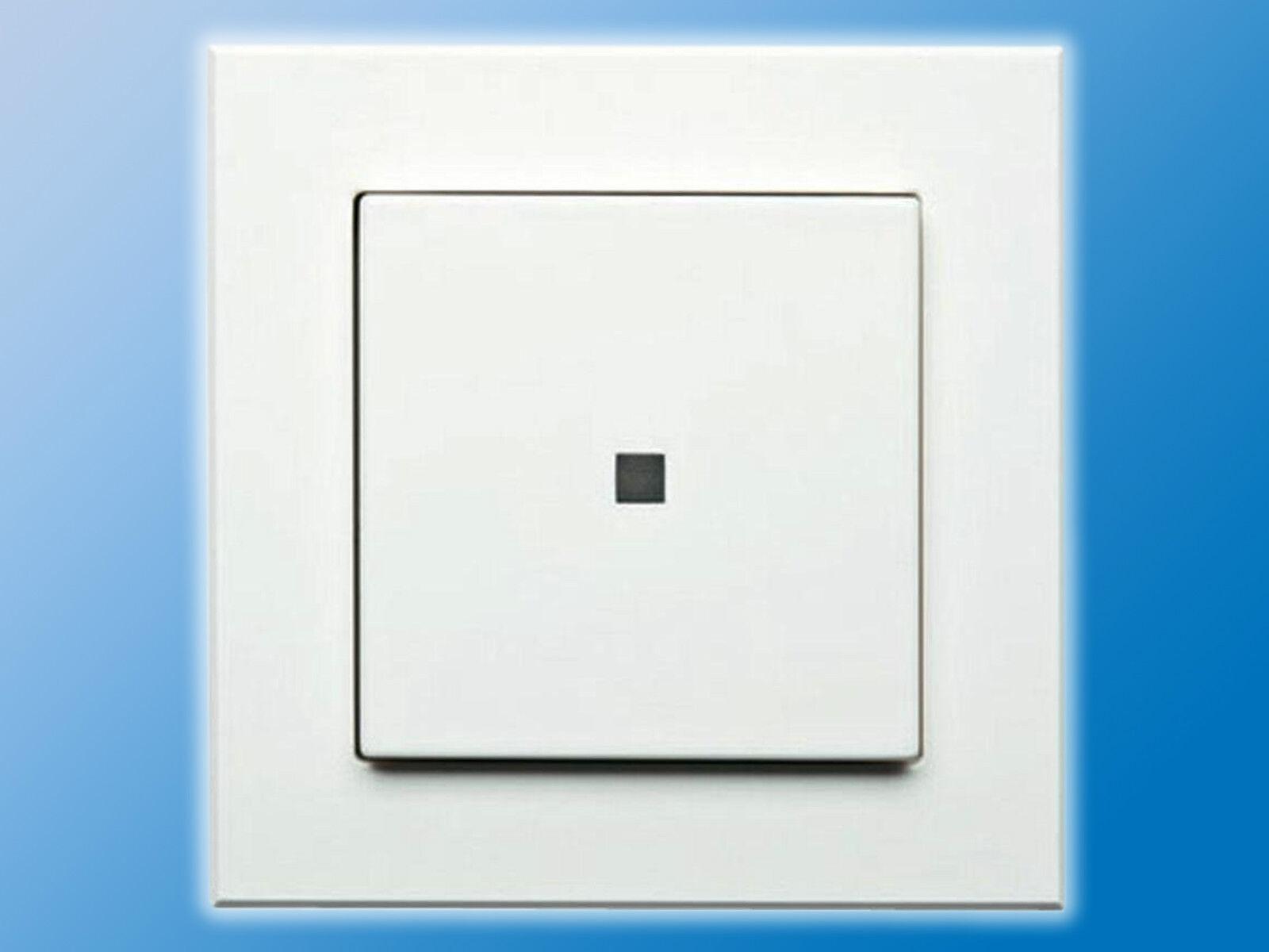 HomeMatic Funk Wandsender für Smart Home | HM-PB-2-WM55-2 | Weiß | -FERTIGGERÄT-