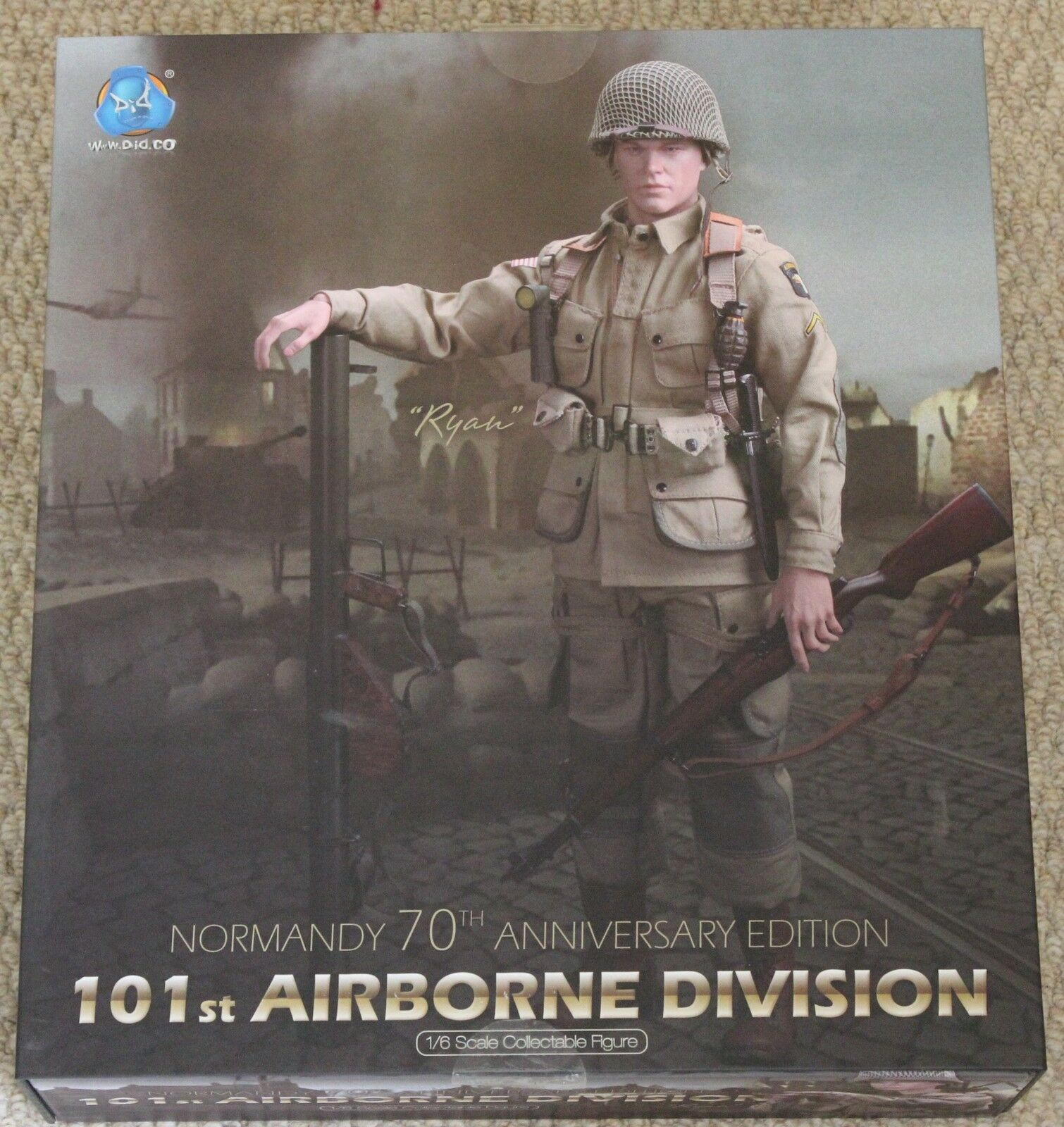 Did action figure 101 iarborne ryan para para para 1 6 12'' boxed hot toy ww11 dragon 2be66f