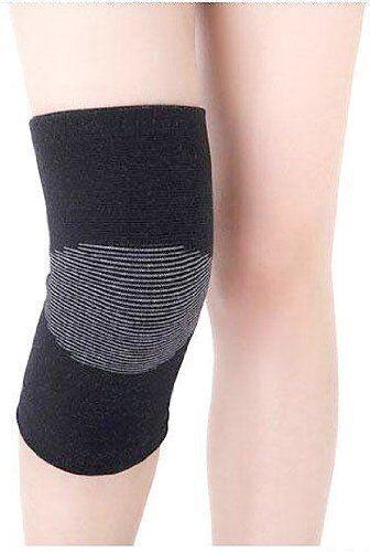 (2) HomeTek Injury Prevention KNEE SUPPORT Compression Black 4.5oz 2