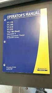 Details about New Holland T7 175 T7 190 T7 210 T7 225 Tractor Operator's  Manual 47915020
