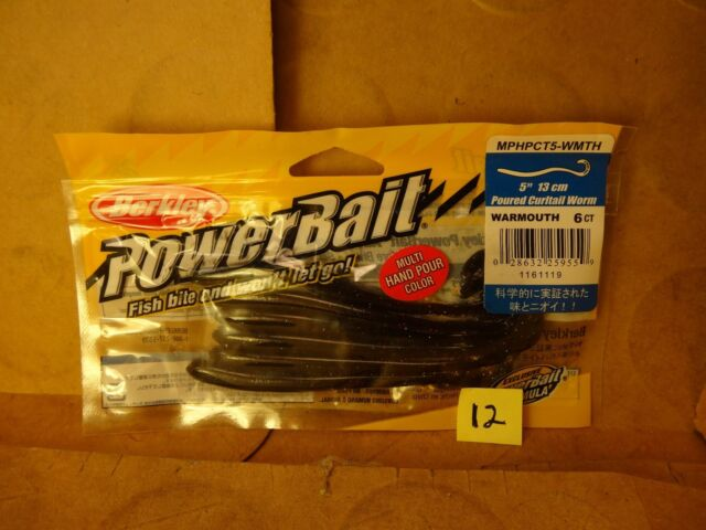"PICK BERKLEY POWERBAIT Poured Curltail Worm 5/"" 6ct Soft Plastic Finesse Lure"