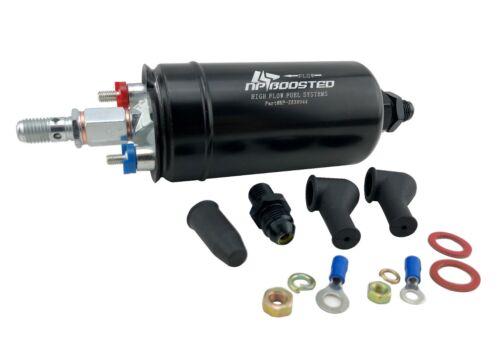 Hi Flow 380LPH Inline EFI External Fuel Pump /& Check Valve 8AN AN8 Fittings 044