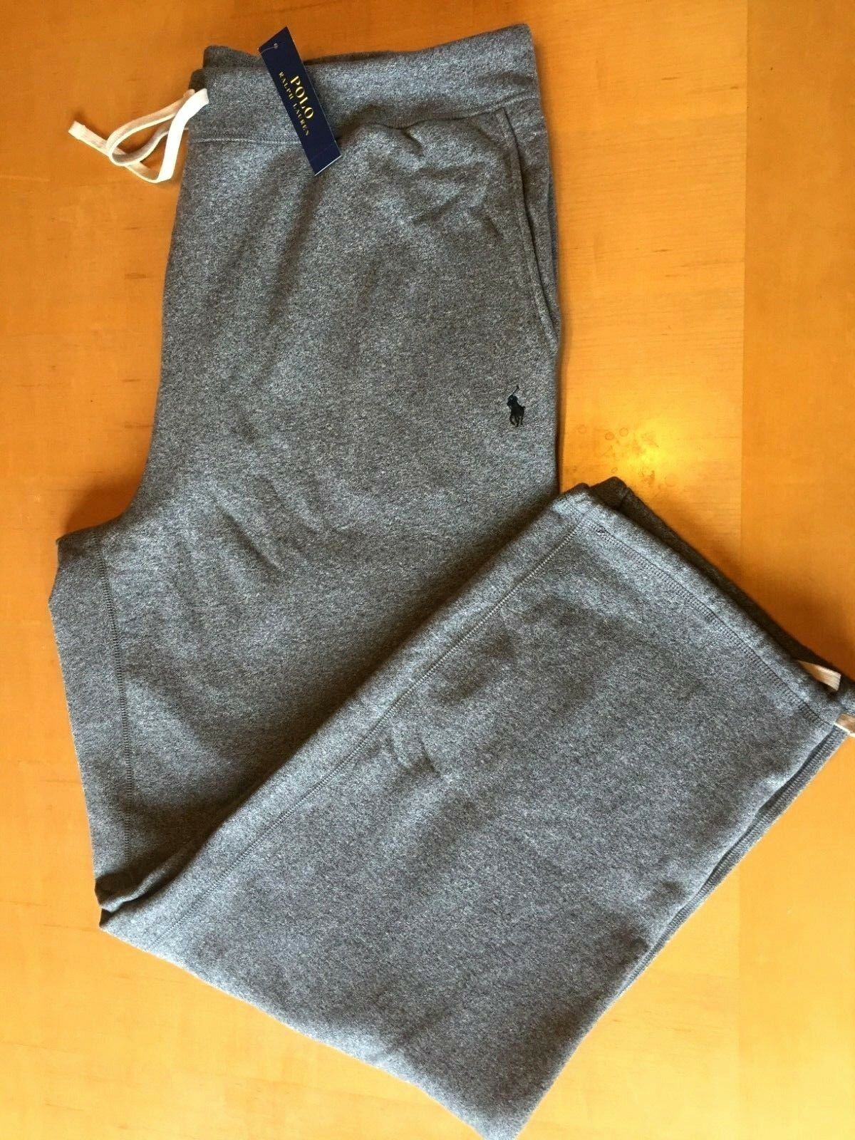 NWT  Herren Polo Ralph Lauren Fleece Sweatpants Drawstring grau Größe 4XLT Orig 110