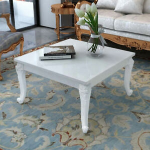 White Shabby Chic Coffee Table High Gloss French Style Living Room
