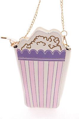LB-57-2 Lila Rosa Popcorn Tüte Funny Pastel Goth Lolita Bag Harajuku Tasche