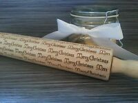 Embossed Rolling Pin: Merry Christmas