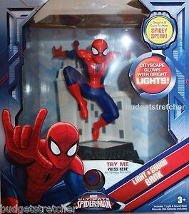 NUOVO Marvel Spiderman Luci Lampeggianti E SUONI MUSICALI soldi SALVADANAIO età 3