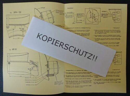 Manuale di istruzioni montaggio DDR MWh m1 rimorchio Simson Schwalbe S 50 51 Star AP