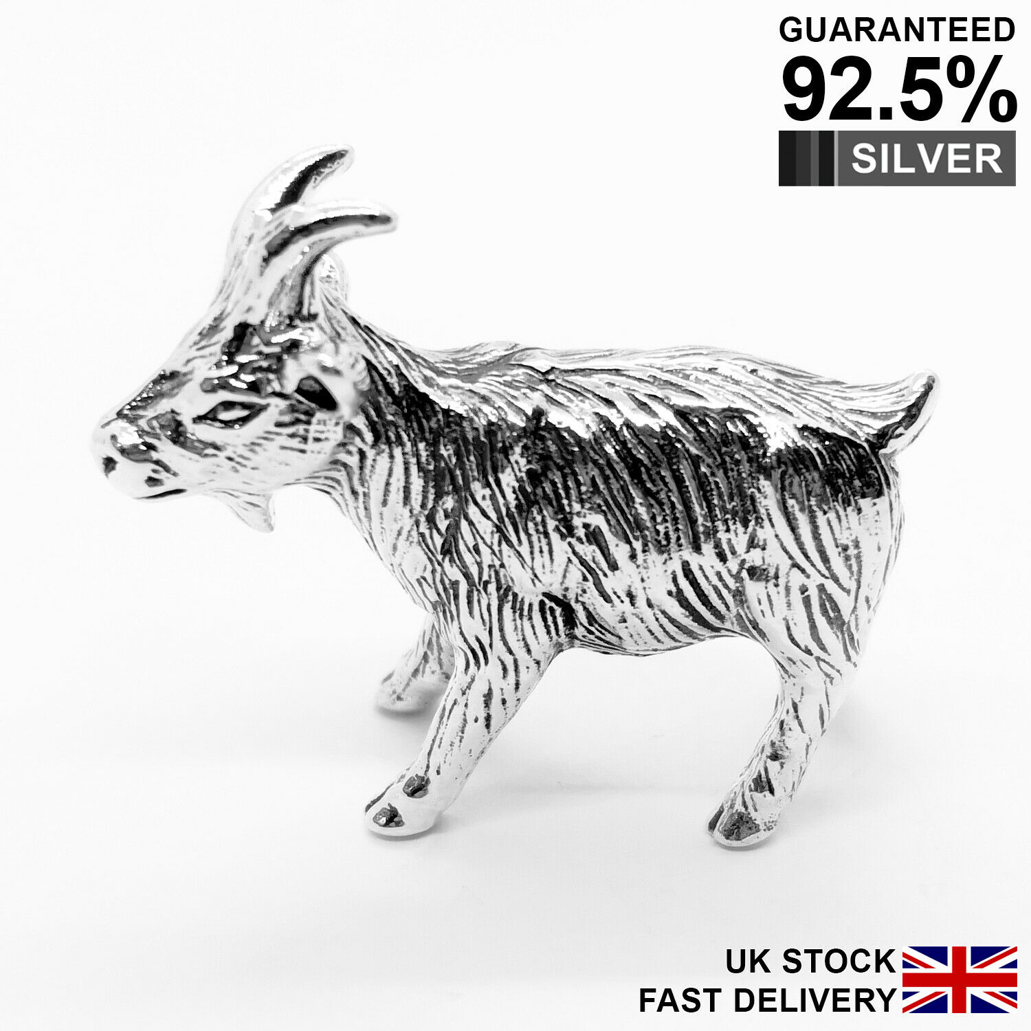 925 Sterling Silver Miniature Goat