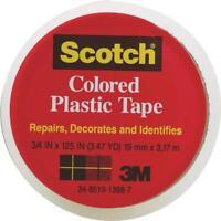Scotch 3/4x125 Clear Plastic Tape By 3m 190cl