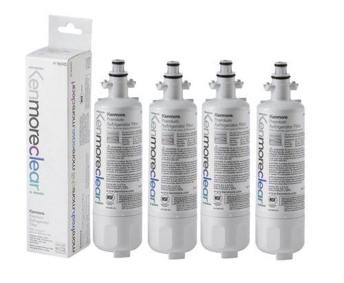 4 Packs Kenmore 469690 9690 refrigerator fridge water filter fit LG LT700P