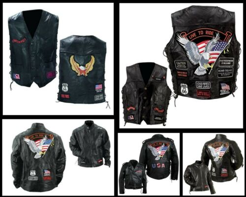 pelle 7xl Country S Giacca Size Big senza Giubbotto maniche In in Biker wZxPfZzI