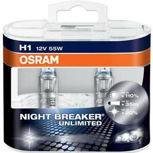 OSRAM H1 NIGHT BREAKER PLUS NIGHTBREAKER PLUS H1 CAR HEADLIGHT BULBS OSRAM H1