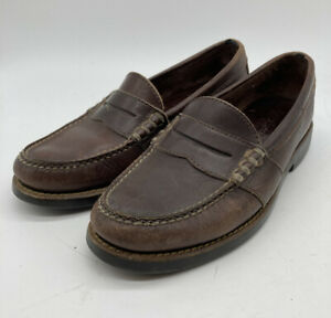 Polo-Ralph-Lauren-Brown-Leather-Penny-Loafers-Shoes-sz-8-5-D