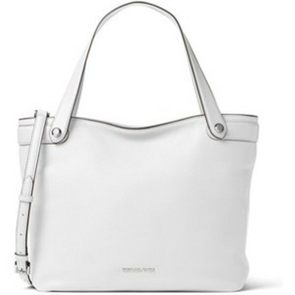 145003e752e17f Michael Kors Hyland Medium Convertible Tote Optic White Leather for ...
