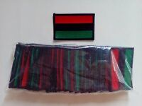 50 Rasta Pan-african Flag (rbg) Embroidered Patches 3x2