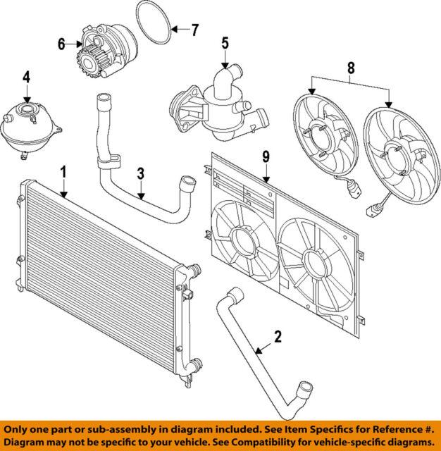vw volkswagen oem 10 15 jetta engine coolant thermostat housing rh ebay com VW-1 4 Engine Diagram 1974 VW Engine Diagram