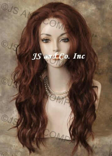 Heat SAFE Lace Front Wig Long Wavy Copper Red sy 130