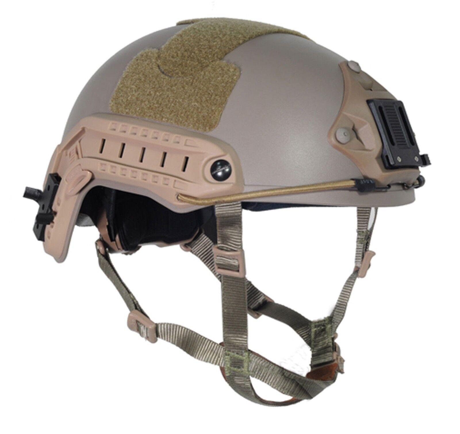 Military Tactical Airsoft Paintball FMA Ballistic Helmet DE T825 M L