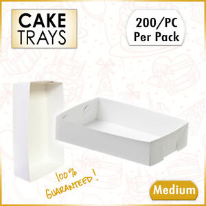 Medium-Cake-Tray-White-Cake-Box-Open-White-Standard-200-Pk-Cupcake-Boxes