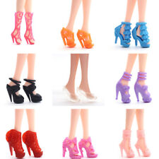 Randomly 40 Pairs Doll Shoes Assorted Colorful Heels for s Dolls Dress*~*