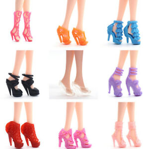 40-Pairs-Different-High-Heel-Shoes-Boots-For-Doll-Dresses-Clothes-Shoes