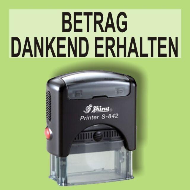 BETRAG DANKEND ERHALTEN Trodat Printy Schwarz 4911 Büro Stempel Kissen schwarz