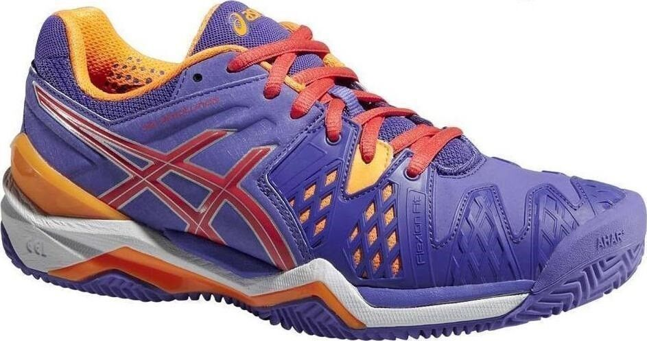 E553Y Womens Ladies ASICS Resolution 6 Clay Court Tennis shoes Trainers Size 8