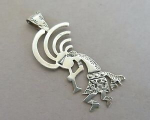 Sterling silver b panteah kokopelli pendant from running bear shop image is loading sterling silver b panteah kokopelli pendant from running aloadofball Choice Image