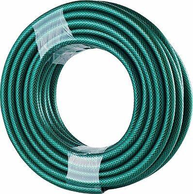 15m Metre PVC REINFORCED OUTDOOR GARDEN HOSE WATER PIPE REEL TUBE ALL SEASONS
